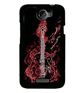 iFasho Animated Guitar Back Case Cover for HTC One X