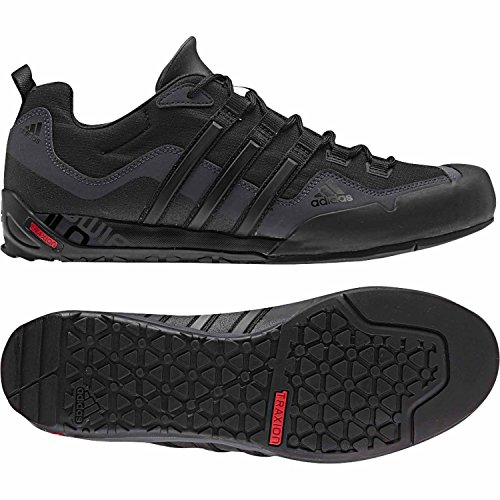 Adidas Outdoor Terrex Swift Solo Approach Shoe - Men's Black/Black/Lead 9