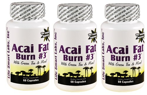 ACAI Fat Burn #3 all Pure Diet Pill with Green Tea, Grapefruit, Apple Cider, and more for Weight Loss and fat burner