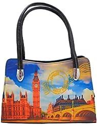 Omkar Shopy New Fashion Women's Ladies PU Hand Bag / Shoulder Bag (Multi) OS125003416