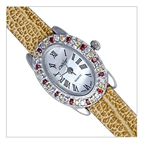 Silver Watch, Cz, Oval by UK Gems