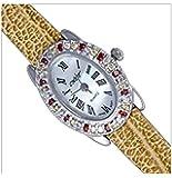 Silver Watch, Cz, Oval by UK Gems