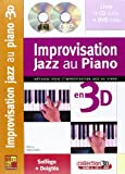 Maugain Manu Improvisation Jazz Au Piano En 3D Pf Book/Cd/Dvd French