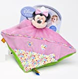 Joy Toy Minnie Mouse - Toalla/manta de seguridad para beb�s (25 cm) dise�o de Minnie Mouse color rosa