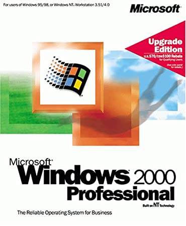 Microsoft Windows 2000 Professional Upgrade w/ Encryption Coded Software [Old Version]