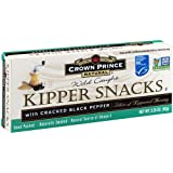 Crown Prince Natural Kipper Snacks with Cracked Black Pepper, 3.25 Ounce Cans (Pack of 18)