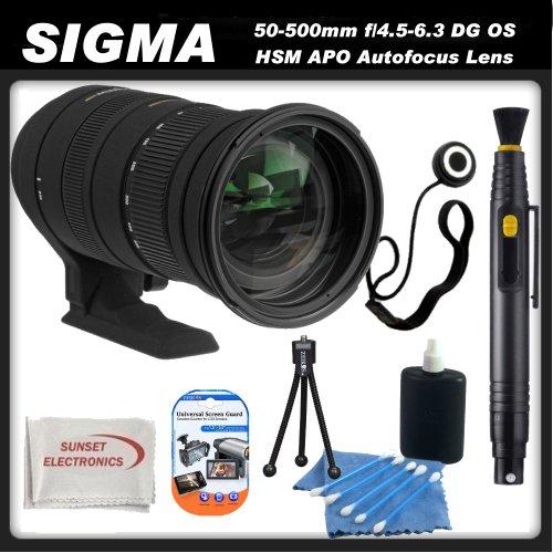 Sigma 50-500mm f/4.5-6.3 DG OS HSM APO Autofocus Lens for Pentax Digital SLR Cameras + SSE Accessory Kit