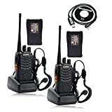 BaoFeng BF-888S Two Way Radio Walkie Talkie (Pack of 2) with 2 more additional TID battery and one more Program Cable