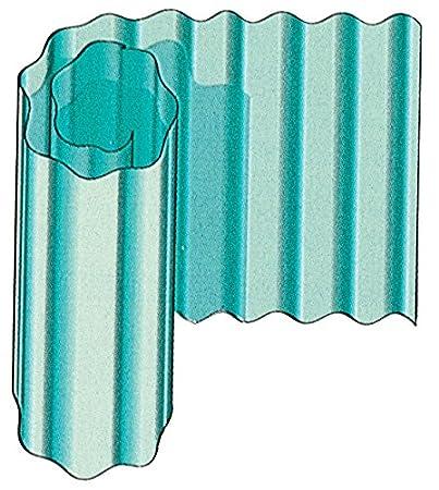 PLASTICA ONDULATA VERDE H.250 Confezione da 100MQ