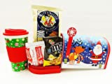 Unlocking Greatness 16oz. Christmas Tumbler Holiday Mug, Popcorn and Cookies Gift Basket