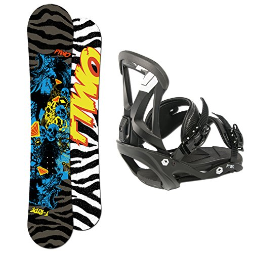 FTWO Snowboard SET T-RIDE 148cm + Sonic Bindung Gr. M