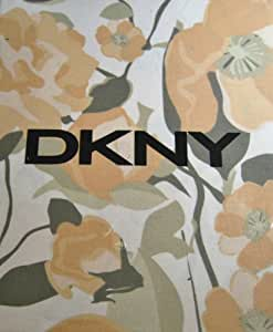 DKNY Falling Petals Cotton Fabric Shower Curtain Sorbet Peach G