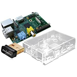 Raspberry Pi Basic Starter Kit -- Includes Raspberry Pi Board -- Case -- Wireless Wifi Adapter