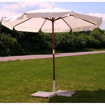 sonnenschirm 3m landhausschirm 3 meter marktschirm mit hartholzgest nge 300cm beige schirm. Black Bedroom Furniture Sets. Home Design Ideas