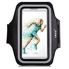 buy Ixcc Trek Series Easy Fitting Sport Gym Running Armband With Dual Arm-Size Slots For Samsung Galaxy S5, Mp3 Player - Black