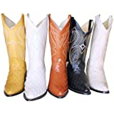 Ostrich Design Genuine Leather Handcrafted Cowboy Men Western Boots