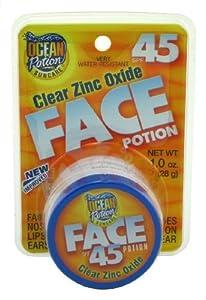 Ocean Potion Protect & Nourish Face Potion Clear Zinc SPF 45 1oz