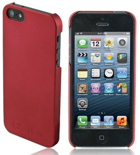 Great Sale Splash Zero Ultra-Slim PolyCarbonate Case for iPhone 5 Cover for the New iPhone 5 -Red