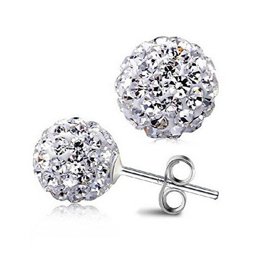 Timando Orecchini argento 925 impreziositi da zirconi crystal