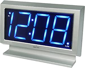 Acctim 14217 Labatt Led Alarm Clock, Silver by Acctim