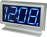 Acctim 14217 Labatt Led Alarm Clock, Silver