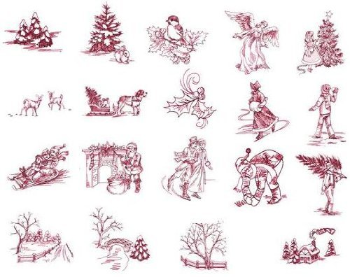 Great Features Of Brother Embroidery Machine Memory Card CHRISTMAS TOILE