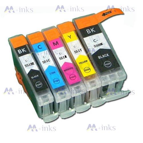 10x Druckerpatronen kompatibel für Canon PGI-550 CLI-551 mit Chip und Füllstandsanzeige kompatibel zu Canon Pixma MG6350 MG7150 MX725 MX925 IP7250 MG5450 MG5550 MG6450 Tintenpatronen