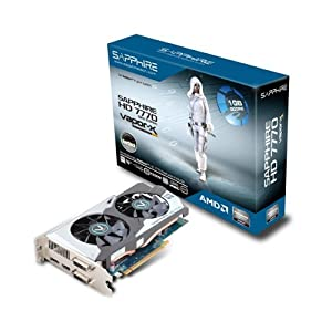 Sapphire Radeon Vapor-X HD 7770 GHZ OC 1 GB DDR5 DVI-I/DVI-D/HDMI/DP PCI-Express Graphics Card (11201-05-20G)