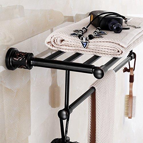 Lcoaung nero ispessimento, tutti in rame da bagno, hardware gancio camera, bagno, doccia continentale americano rack, asciugamano, asciugamano da bagno, Clover portasciugamani