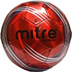 Mitre Laser Chrome Soccer Ball, Red,...