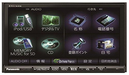 [パナソニック/Panasonic]  7V型ワイドVGAモニター 2DIN AVシステム地上デジタルTV/DVD/CD内蔵 SDカーナビ(180mmコンソール用)  【品番】 CN-R330D