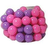 Ozbozz - 100 Balles Roses et Violettes - Ø 5,5cm (Import Royaume-Uni)