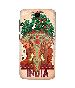 India Elephant Huawei Honor Holly Printed Back Cover