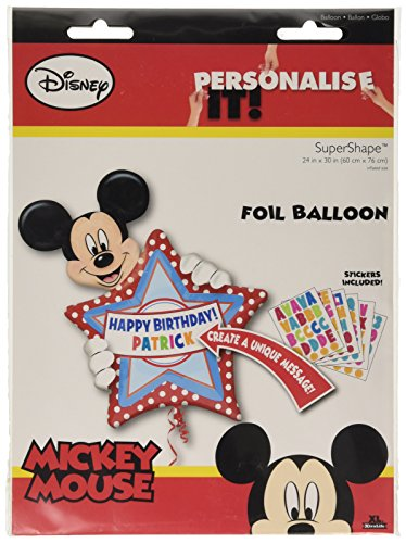 Anagram International 2636401 Mickey Mouse Birthday Balloon Pack, 30""