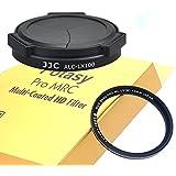 Fotasy LX100 UV Auto Self-Retaining Lens Cap and 43 mm Nano Slim MRC HD Filter (Black)