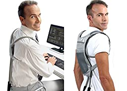 ERGO Posture Corrector by Wearable Ergonomics: A Revolutionary Posture Brace Back Support System for Men and Women - Posture Correction Made Simple & Easy! Wearable Posture Support Every Day Use.
