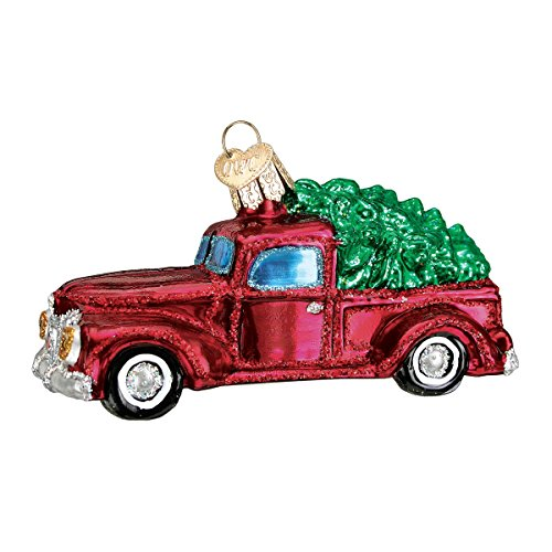 Old World Christmas Truck with Tree Glass Blown Ornament