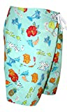Kanu Mens Boardshorts in Tropical Whimsey Print Side Cargo Pocket 30-38