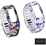 Mudder 2 PCS Replacement Bands with Plastic Clasps and 1PCS Silicone Fastener Ring for Garmin Vivofit Fitness - Fix the Clasp Fall Off Problem - Secure Your Wristband in Style