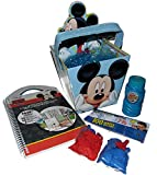 Disney Mickey Mouse Bucket Easter Basket with Mickey Mouse Sticker Travel Book, 100 Water Balloon Kit & Bubbles