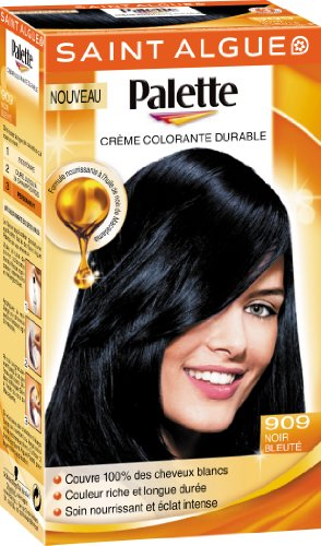 Coloration permanente saint algue palette coloration - Couleur noir bleute ...