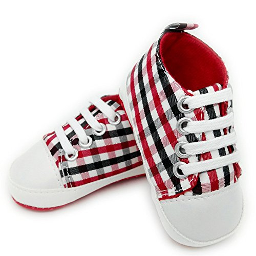BAITER, Scarpe primi passi bambini Red and black squares EU 12
