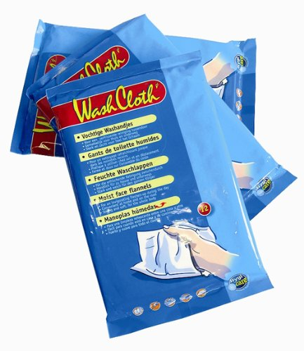 HygiCare Moist Face Flannels / Washgloves (12-Pack)