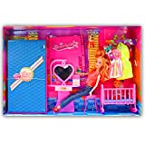 Beautiful Kids Toys With Trendy Dresses Like Barbie Doll Set Toy Baby Gift - 74