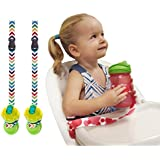 Multipurpose And Adjustable Cup/Bottle Strap. Sippy Cup Strap For High Chairs, Strollers, Bikes. Leash Also Secures...