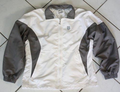 K-Swiss Jacke Vital Gr.40-42, Damen, Gr. M (US), weiss / silbergrau