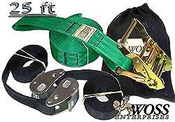 WOSS Gear, 2in Slackline - Made in USA (Electric Green)