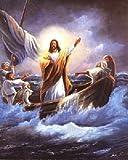 Jesus Christ Calming the Sea Femrite Religious and Spiritual Art Print Poster (16x20)