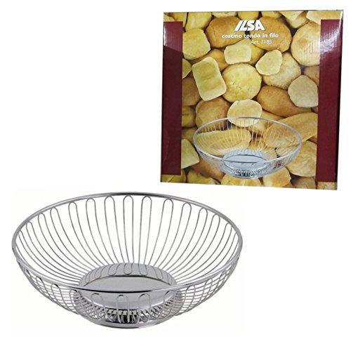 CESTINO porta pane tondo della ILSA 20cm in acciaio inox cestello