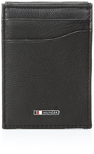 Tommy Hilfiger Men's Lloyd Slim Front Pocket Wallet, Black, One Size (Tommy Money Clip compare prices)